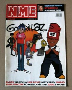 NME magazine 2001 Russia Gorillaz Björk Foo Fighters very rare