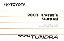 2005 Toyota Tundra Owners Manual User Guide Reference Operator Book Fuses Fluids