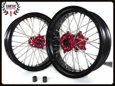 Supermoto Wheels Set For Honda CRF250 R CRF450R CR 125 250 17""