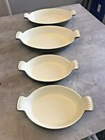 Martha Stewart MSE Green Enamel Cast Iron Oval Au Gratin Baking Dishes Set  4