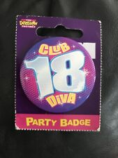 18th birthday badge New In Packaging. Red Hot & Club 18 Diva