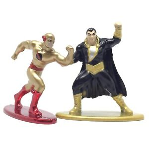 Jada DC Comics Nano Metalfigs Flash & Black Adam Die-Cast Action Figure Set Toy