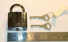 Abloy 330 padlock w/ 2 identical keys & key code tag - NEW - made in Finland