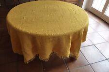 ancien tissu textile dessus de lit jaune  Réf 200 /02