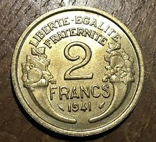 PIECE DE 2 FRANCS 1941 MORLON (74)