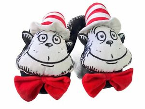 Peter Alexander Dr Seuss Slippers Womens Size L Cat In The Hat Novelty