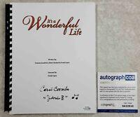Carol Coombs Janie Signed Full Movie Script It's a Wonderful Life 1946 Film ACOA
