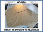Triumph TR2 TR3 TR3A Tonneau Cover - Beige / Tan Mohair Fabric (+ OTHER COLOURS)