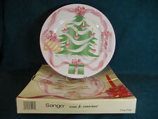 """Sango Home For Christmas 4829  Chop Plate / Round Serving Platter 12 1/8"""""""