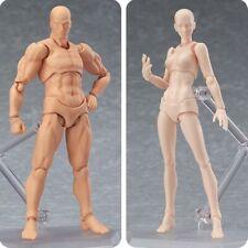 S.H.Figuarts Figma CHAN & KUN Male Female PVC Movable Figure Body Model W/ Hold