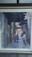 original water color painting CAESARIA ISRAEL.BY WORLD RENOWN VINTAGE ANIMATOR .