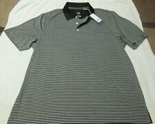 Cutter & Buck Men's Cb Dry Tec Golf Polo Shirt Striped Size L Large Nwt