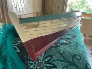 Vintage hand made wooden sailboat