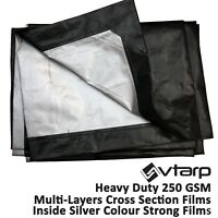 vtarp®  HEAVY DUTY TARPAULIN WATERPROOF EX STRONG COVER GROUND SHEET TARP 250GSM