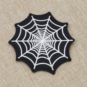 1pc Fabric Spider Webs Embroidery Patch Sewing Craft for Clothes Accessories DIY