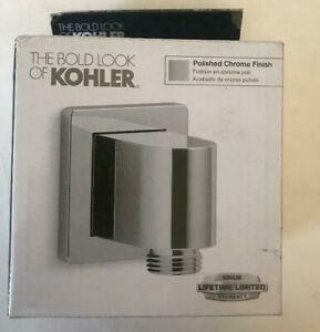 KOHLER 98351-CP Awaken Polished Chrome Wall Mount Supply Elbow w Check Valve