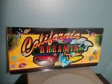 California dreamin vintage slot matching glass surfing ford mustang ballys 1993
