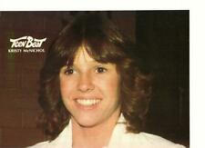 Kristy Mcnichol teen magazine pinup clippings Teen Beat 1970's close up