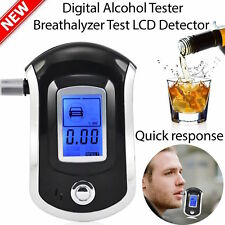 LCD Digital police breath breathalyzer test alcohol analyser detector AT6000 NYP