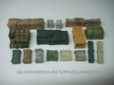 wargames scenery. Crates and ammo boxes 1/56, 28mm Bulk Pack 16 piece (065)