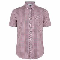 Ben Sherman Mens Shirt Short Sleeve Casual Cotton Regular Fit Chest Pocket