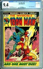IRON MAN 46 CGC 9.4 KANE cover Death of GUARDSMAN 5/72 Marvel Comic NEW CGC CASE