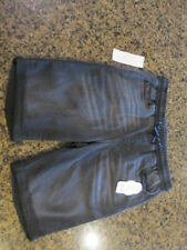 Wonder Nation Boy Large 10 12 Pull On Black Knit Denim Elastic Waist Shorts NWT