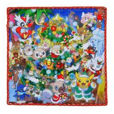 Pokemon Center CHRISTMAS 2017 Hand towel Handkerchief Pikachu Vulpix Rockruff
