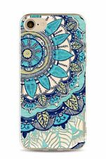 For iPhone 7 Plus Mandala Design Cover Slim TPU silicon Rubber Clear Case Henna
