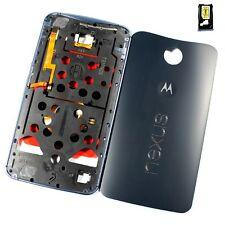 OEM Motorola Google Nexus 6 Battery Back Door Cover + Bezel Frame Housing Blue