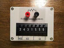 Seven decade resistance box 1% .1% 0 ohm 10meg  0-9999999  resistor substitution