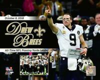 New Orleans Saints Super Bowl 44 MVP Drew Brees 8x10 Photo Picture Pass Record