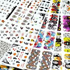 Mixed 48 sheets Halloween water transfer nail art decoration stickers decals lot