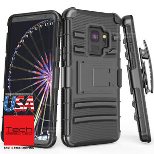 Fits Samsung Galaxy S9/S9Plus/Note9 Full Body Case + Kickstand Holster Belt Clip