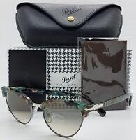 NEW PERSOL sunglasses PO3198S 107032 51mm Light Blue Tortoise Vintage Cat Eye