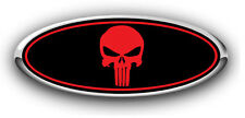 Ford Focus 2008-2013 Overlay Emblem Decal Punisher Black/Red 3Pc Kit