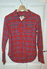 Gilly Hicks Hollister Red Checkered Shirt Size XS