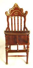 Hansson Dollhouse Miniature 1:24- Walnut High Chair