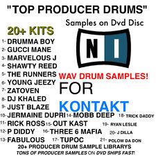 TOP 21 SAMPLE kit for KONTAKT and KOMPLETE wav Drum Percussion