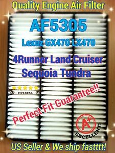 Air Filter For 00-06 Tundra 03-09 GX470 LX470 4Runner Land Cruiser Sequoia  ^o^