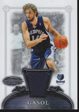 Pau Gasol 2007 Topps Bowman Sterling # 4, game used jersey