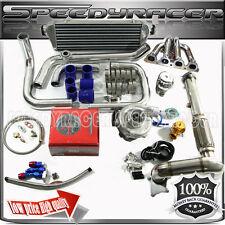 Turbo kits SS Manifold 0.63 T3/T4 Turbo intercooler+ 4 in 1 gauge Fits D15/D16
