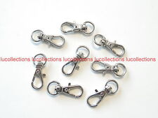 50 Silver Metal Swivel Clasps Snap Clips Finding H117