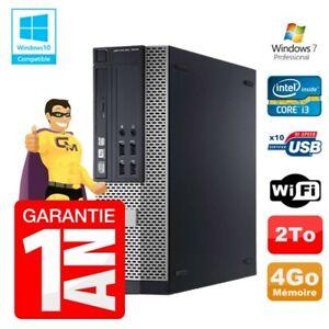 PC Dell 7010 SFF Intel I3-2120 RAM 4Go Disque 2To DVD Wifi W7