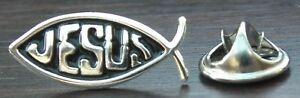 Jesus Fish Christian Pin Badge Holy Religious Brooch