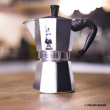 BIALETTI MOKA EXPRESS espresso Fornello Per 6 TAZZE - 100% ORIGINALE MADE IN ITALY