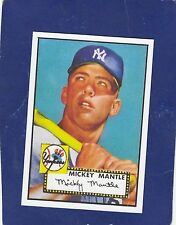 1952 TOPPS ROOKIE #311 MICKEY MANTLE NEY YORK YANKEES REPRINT MLB BASEBALL 2