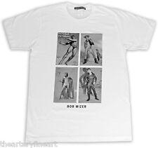 BOB MIZER + ANZEVINO Designer MoCA Exhibition Art T-Shirt 2013 Men's S White NWT