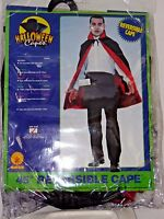 Adult Reversible Lined Red & Black Cape Halloween Party Theater Costume Rubies