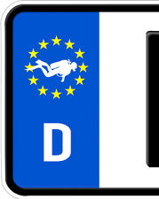 2x Aufkleber Taucher Totenkopf Nummernschild Kennzeichen Bundeswehr Tauchen